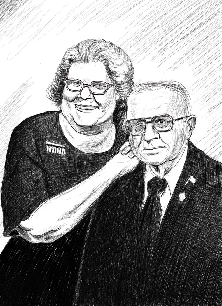 Portrait January 2018, Entry #3: Jean's parents by Reinder