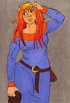 Krakatoa blue dress
