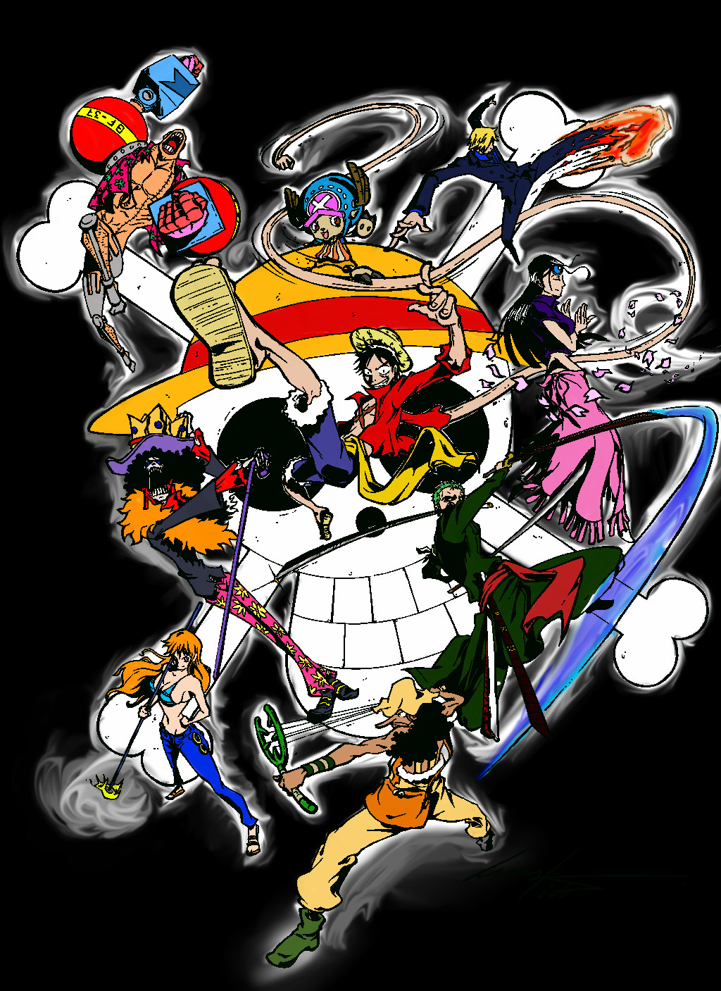 One Piece Crew's Power Colour by KageRyuMusic on DeviantArt