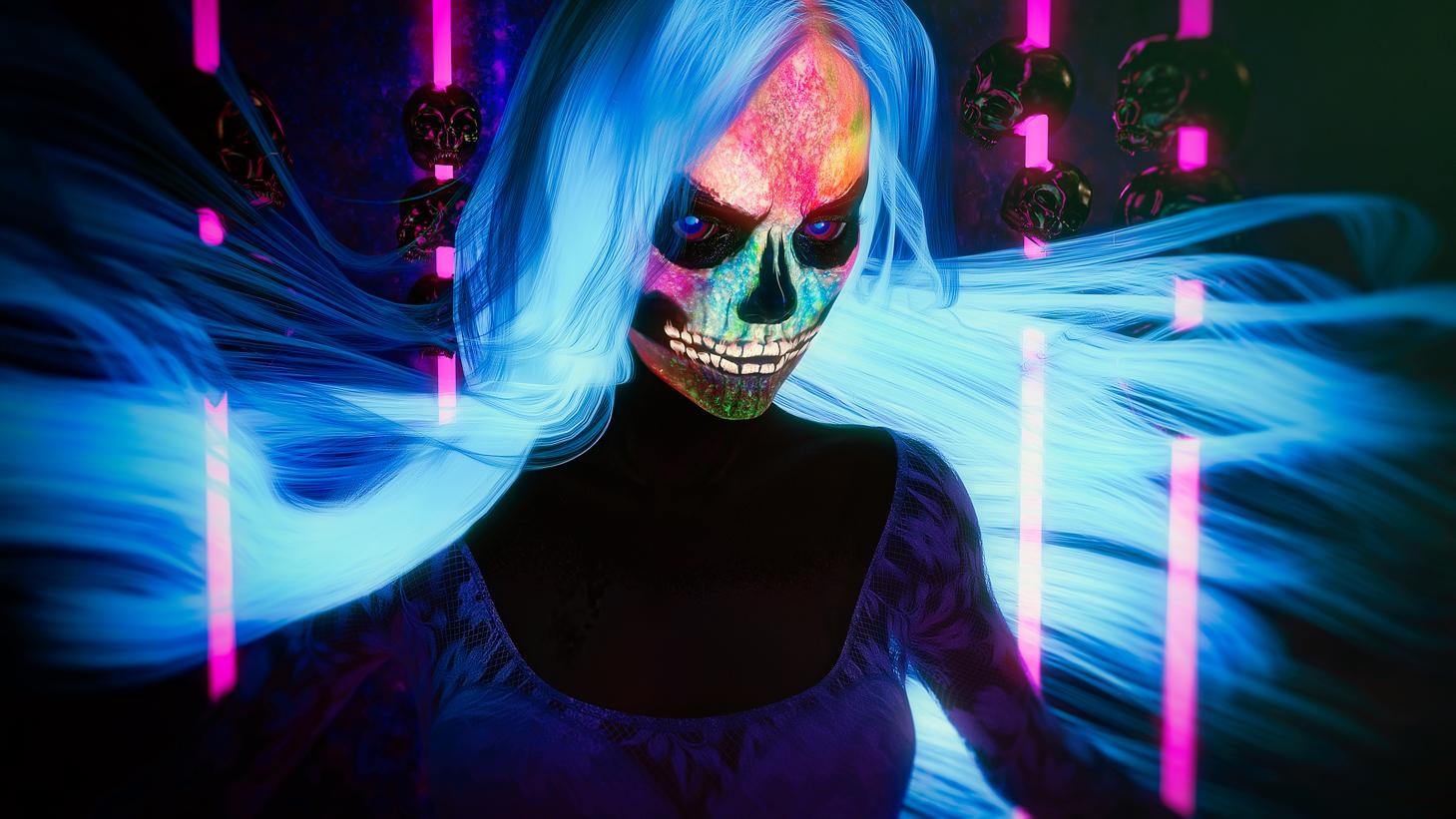 Neon Bride by owakulukem