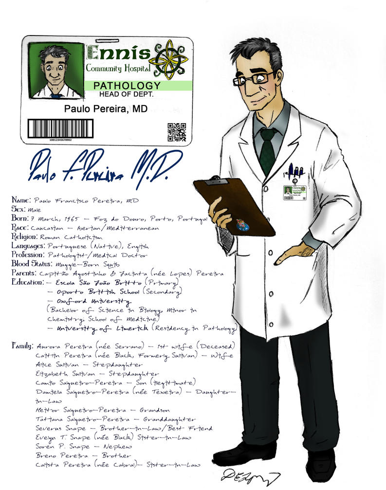 30-Day OC Challenge Day 1 - Dr. Paulo F. Pereira by ameraucanablues