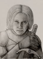 Brienne and Oathkeeper by VKCole