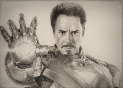 Tony Stark as Iron Man  by VKCole