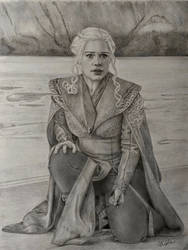 Daenerys Landing on Dragonstone  by VKCole