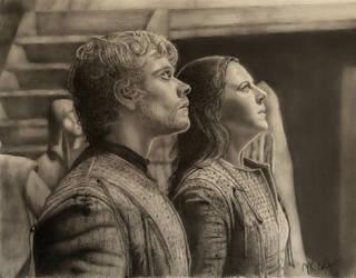 Theon and Yara Greyjoy Awaiting the Storm by VKCole