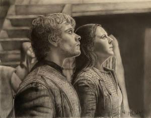 Theon and Yara Greyjoy Awaiting the Storm