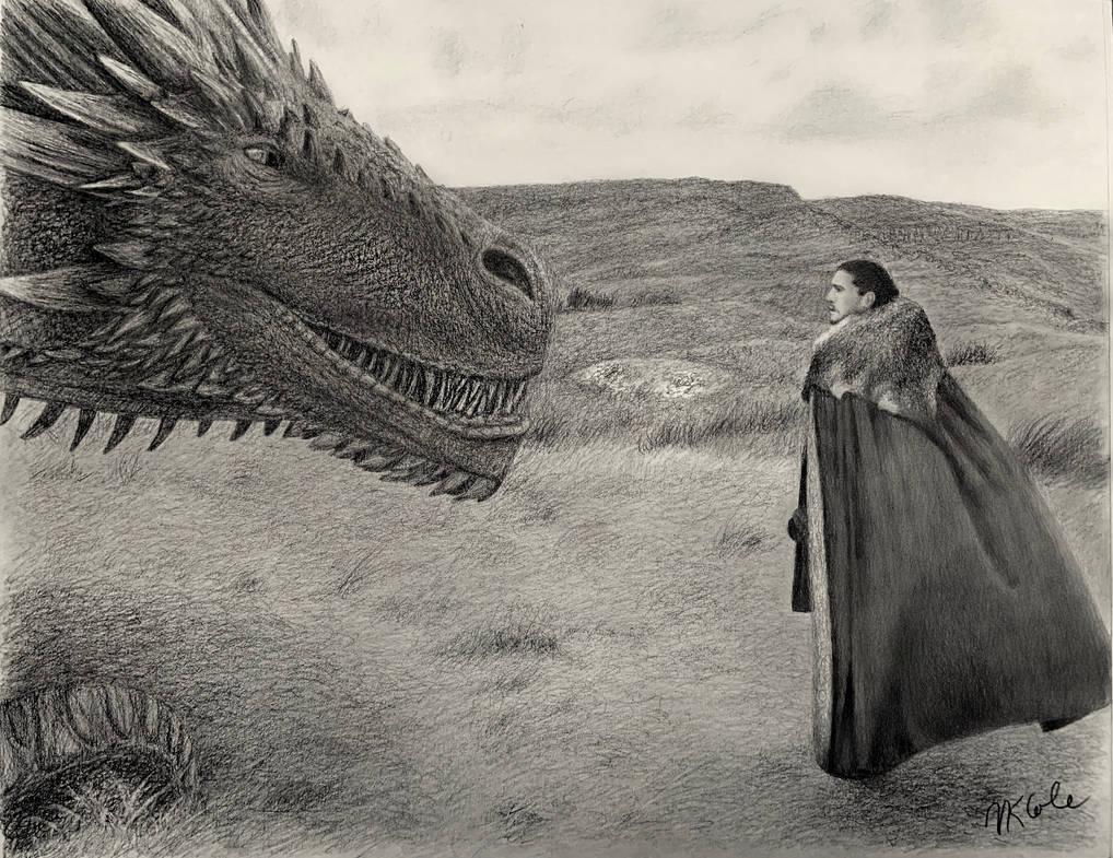 Jon Snow Meets Drogon by VKCole