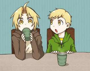 Ed and Al: Hot Tea by c0ralus