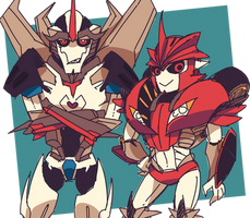tfp: Starscream and Knockout