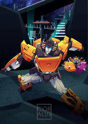 TF: Sunstreaker and Bob by c0ralus