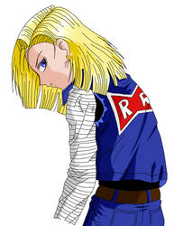 Android 18 in color