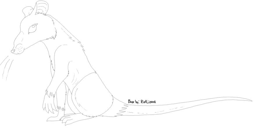 Line Art Rat : Rat line art base for mashupsaurus by riotlizard on deviantart
