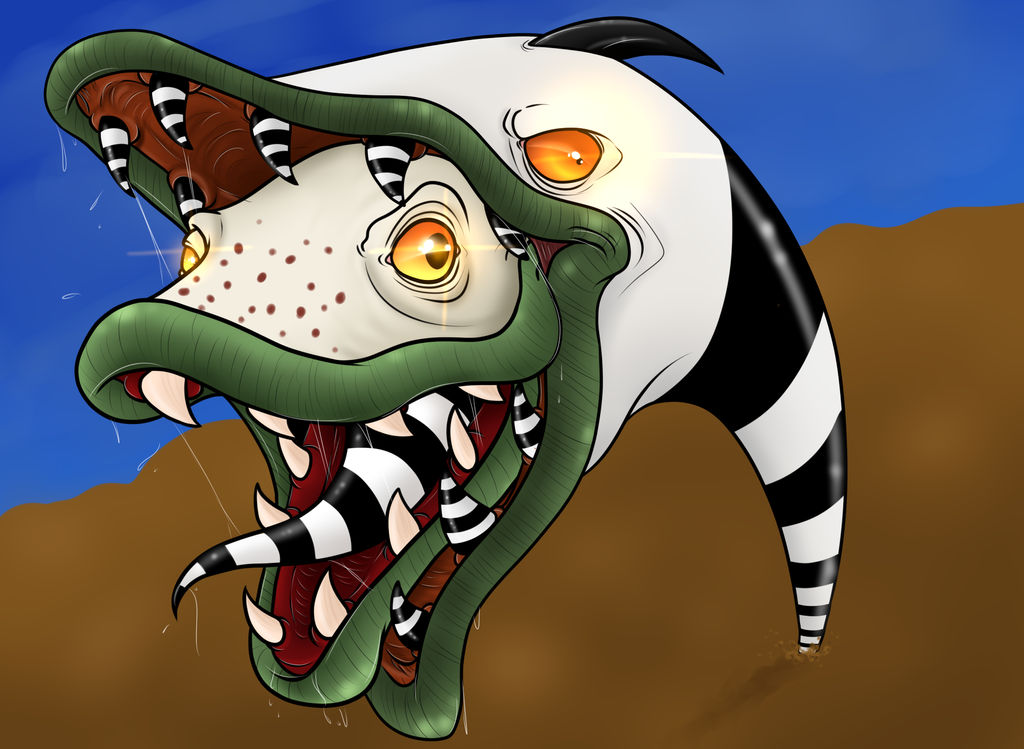 Saturn Sandworm Beetlejuice By Riotlizard On Deviantart