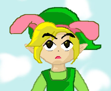 PinkBunnyEars Toon Link by tier-xhan