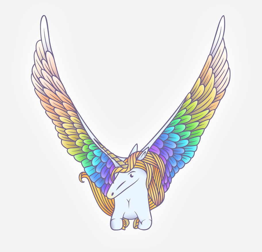 Rainbow Pegacorn by oranginas