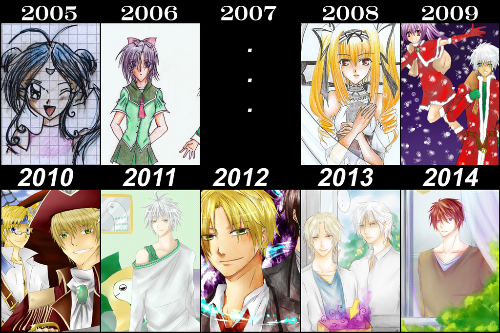 [MEME]10 years of art improvement by KuroBaka22