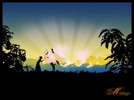 Sunrise vector by tarakeuh