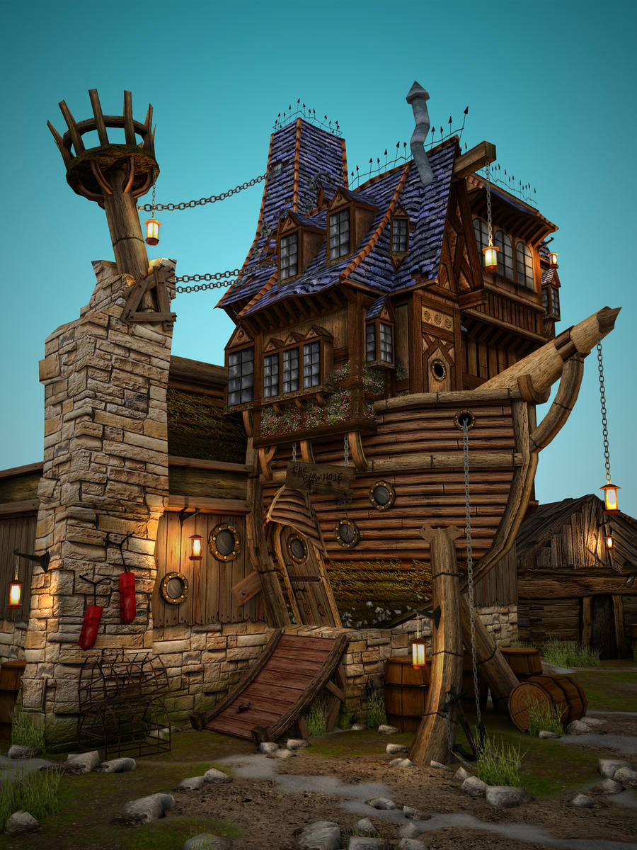 Boat House: Beauty Shot by necrozim