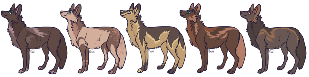 Earth Toned USD Wolf Adopts
