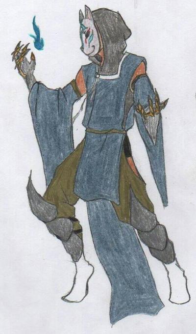 Nogitsune Bi (Void Fox Fire) by BlueShadow20