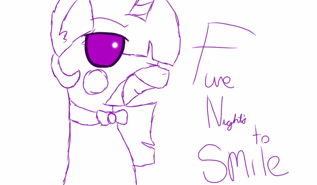 Five Nights To SMILE MlpOutline By GalaxyArtProduction2