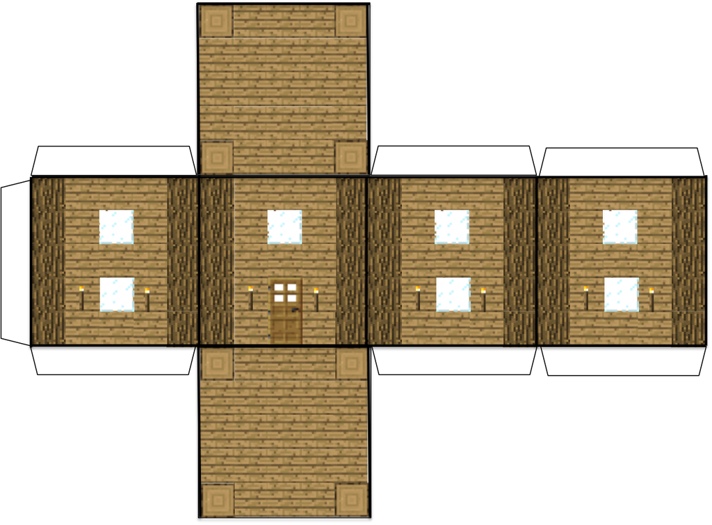 Minecraft papercraft Wooden house by GalaxyArtProduction2 on DeviantArt