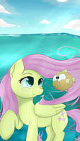 Fluttershy - Aqua Theme by Dashy21