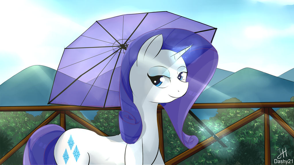 Rarity - Morning Walk by Dashy21