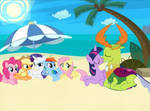 A day at the beach with the Mane 6 and Thorax