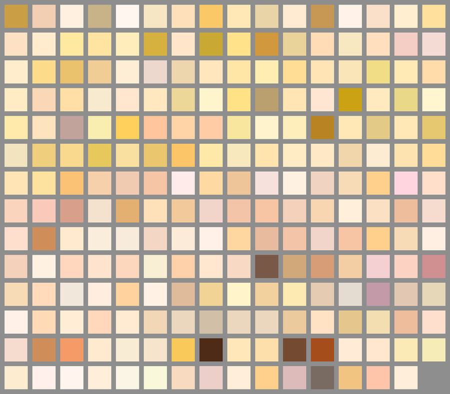 Skin Color Palette (Updated) by AngelAndChangeling