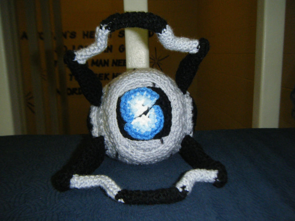 Portal 2- Wheatley Amigurumi by AngelAndChangeling
