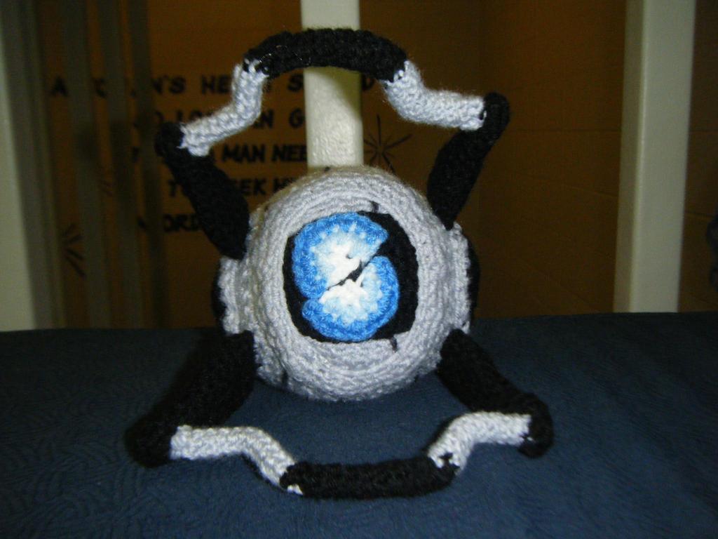 Portal 2- Wheatley Amigurumi by AngelAndChangeling