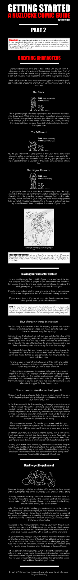 Nuzlocke Guide: Part 2 - Creating Characters by YinDragon