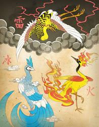 Birds of Legend by YinDragon