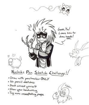 Nuzlocke Pen Sketch Challenge