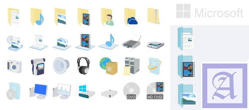 Windows 8.1 icons Preview