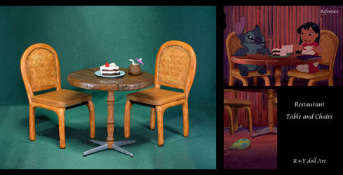 Restaurant Table and Chairs / Lilo and Stitch by RYfactory