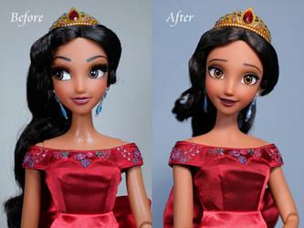 Elena of Avalor OOAK doll Repaint
