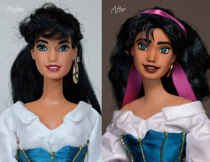 Esmeralda Repainted Doll OOAK