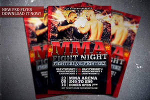 MMA Fight Night Flyer Template by FlipNGecko