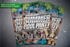 Summer Pool Party Flyer Template by FlipNGecko