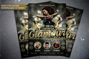 Glamour Saturdays Flyer Template by FlipNGecko