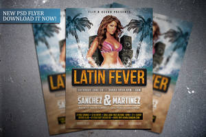 Latin Fever Flyer Template by FlipNGecko