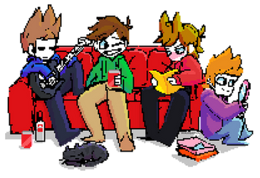 Eddsworld Couch Buds Pagedoll by InvalidQuestion