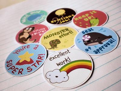 Teacher reward stickers by joey design