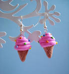 I scream ice cream earrings
