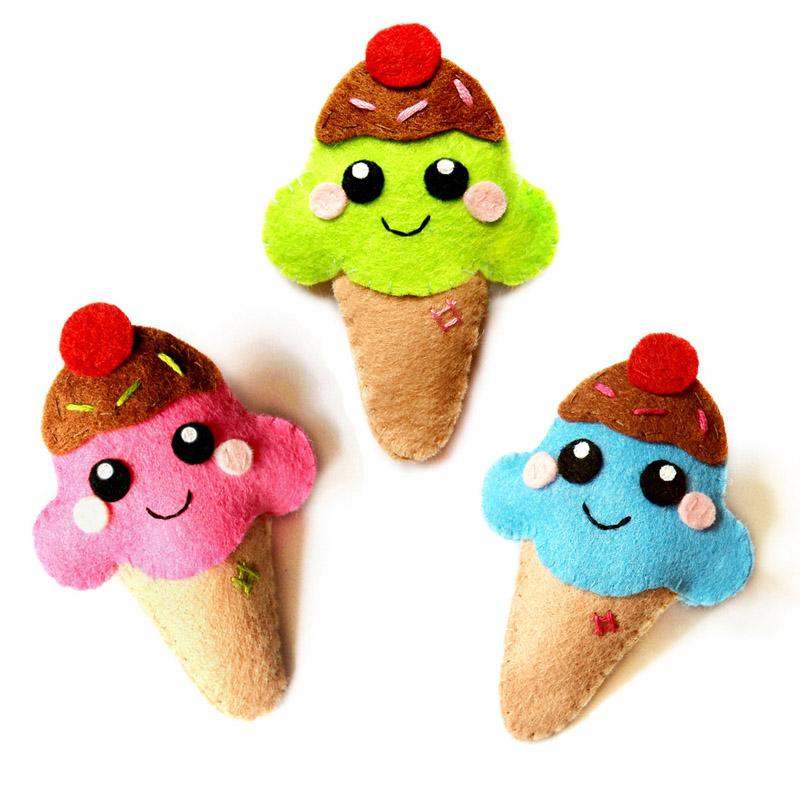 Ice cream felt accessories by LittleMissDelicious