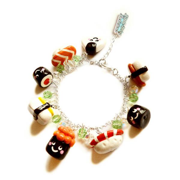 Sushi charm bracelet by LittleMissDelicious