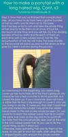 Ponytail wig tutorial part 3