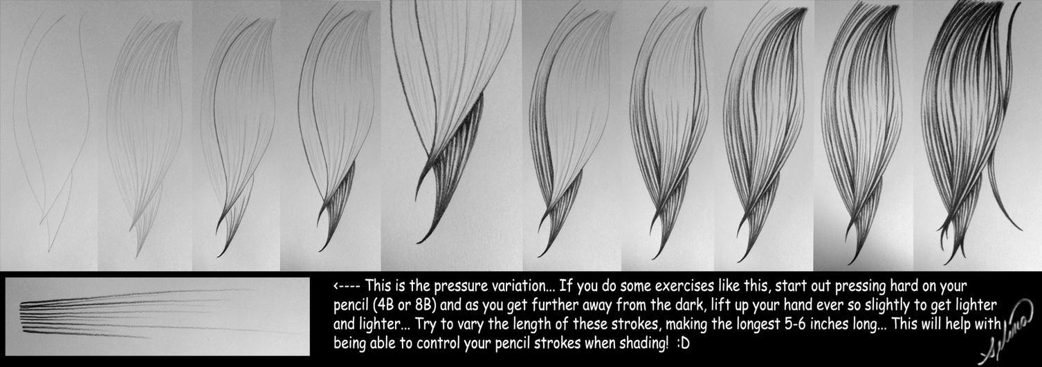 Graphite Hair and Line Tute by Miyasia